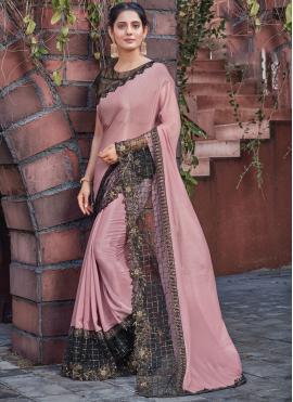 Pink Ceremonial Silk Designer Saree