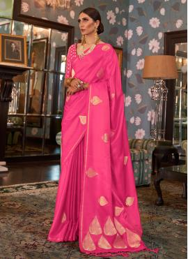 Pink Ceremonial Traditional Designer Saree