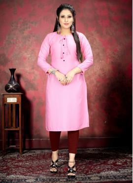 Pink Color Casual Kurti
