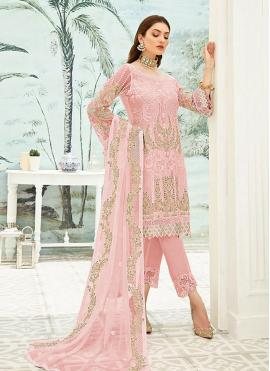 Pink Color Pant Style Suit