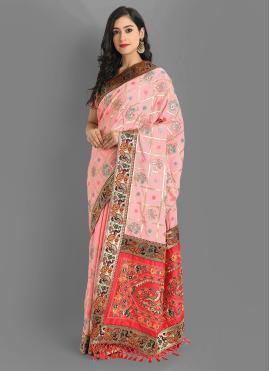 Pink Color Silk Saree