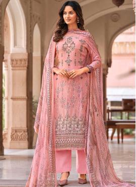 Pink Digital Print Muslin Designer Palazzo Suit