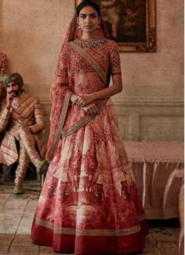 Pink Embroidered Designer Lehenga Choli