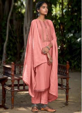 Pink Embroidered Designer Pakistani Salwar Suit