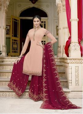 Pink Embroidered Designer Pakistani Suit