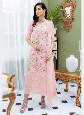 Pink Festival Net Designer Straight Suit