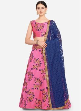 Pink Jacquard Weaving A Line Lehenga Choli