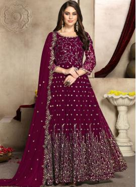 Pink Party Anarkali Suit