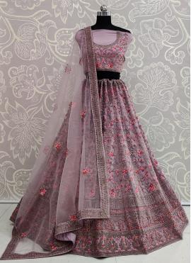 Pink Resham Wedding Lehenga Choli