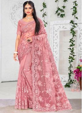 Pink Sangeet Designer Saree
