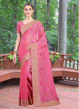 Pink Zari Wedding Classic Designer Saree
