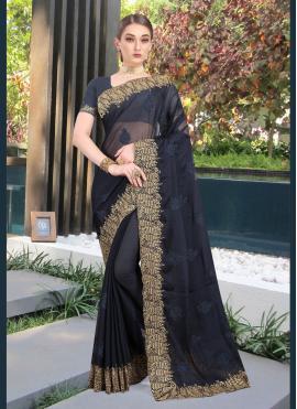 Piquant Embroidered Classic Designer Saree