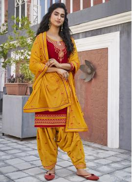 Pleasance Embroidered Designer Patiala Suit