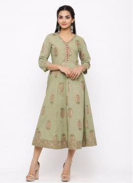 Pleasance Green Casual Kurti