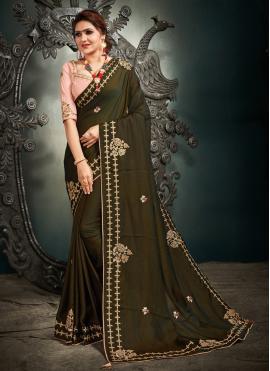 Pleasance Resham Green Designer Saree
