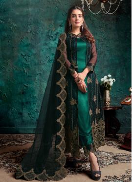 Pleasing Fancy Net Designer Pakistani Suit