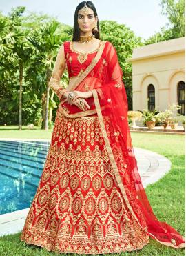 Pleasing Lace Art Silk Lehenga Choli