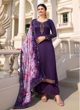 Prachi Desai Embroidered Designer Palazzo Suit