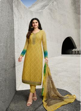 Prachi Desai Embroidered Designer Straight Suit