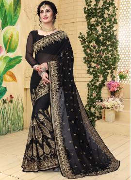 Praiseworthy Embroidered Ceremonial Designer Saree