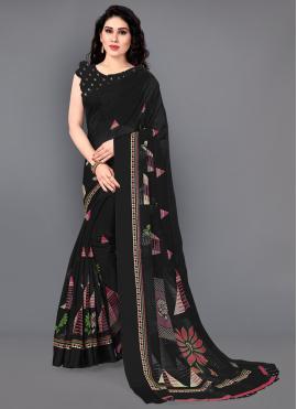Precious Black Casual Saree