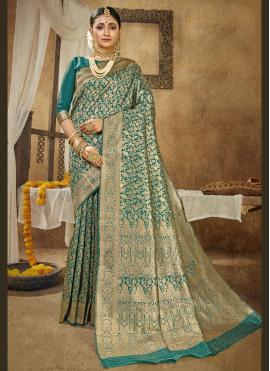 Precious Rama Traditional Designer Saree