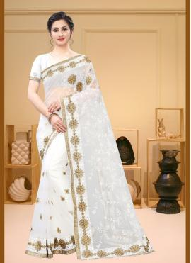 Preferable Embroidered Net Bollywood Saree
