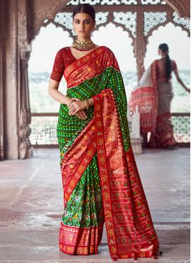Preferable Fancy Engagement Designer Traditional Saree