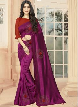 Prepossessing Purple Party Casual Saree