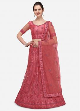 Pretty Pink A Line Lehenga Choli
