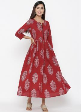 Pretty Print Casual Party Wear Kurti