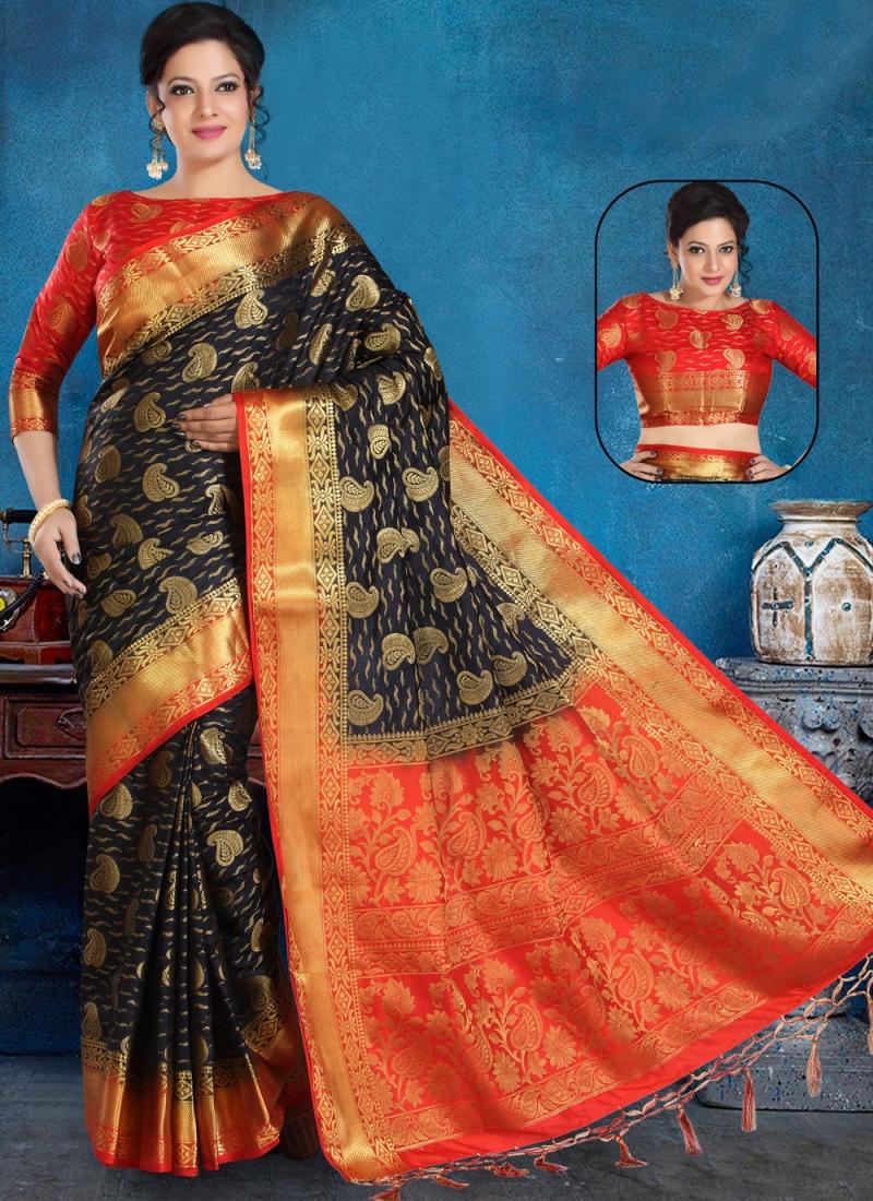 Pretty Weaving Trendy Saree