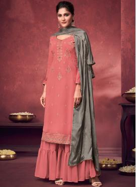 Princely Pink Party Designer Palazzo Suit