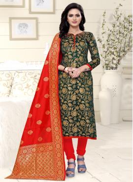 Princely Weaving Churidar Designer Suit