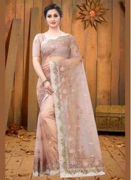 Pristine Embroidered Net Bollywood Saree