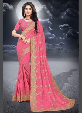Pristine Zari Pink Silk Classic Saree