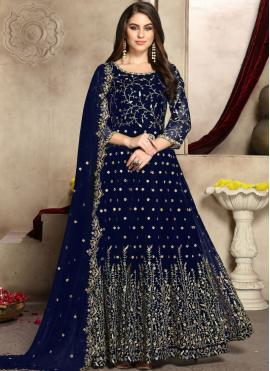 Prodigious Trendy Anarkali Salwar Suit For Reception