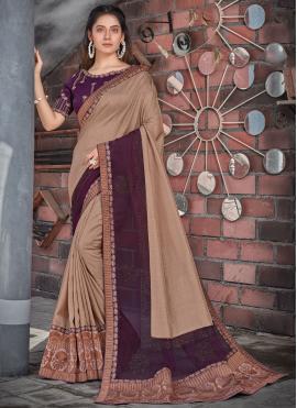 Purple Ceremonial Designer Saree