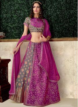 Radiant Raw Silk Bridal Lehenga Choli