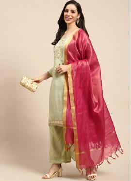 Radiant Silk Designer Palazzo Suit