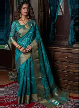 Rama Handloom silk Wedding Traditional Designer Saree