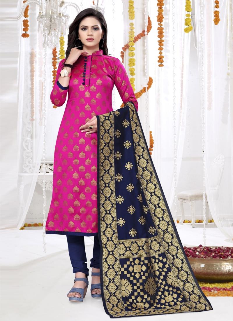 Rani Banarasi Silk Ceremonial Churidar Salwar Kameez