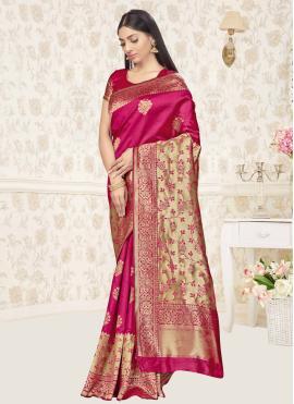 Rani Banarasi Silk Ceremonial Traditional Saree