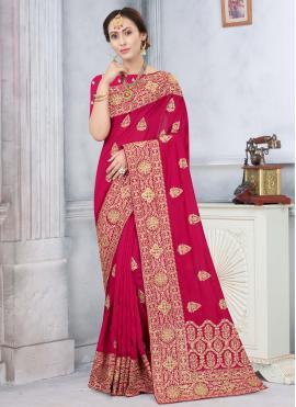 Rani Stone Ceremonial Designer Traditional Saree