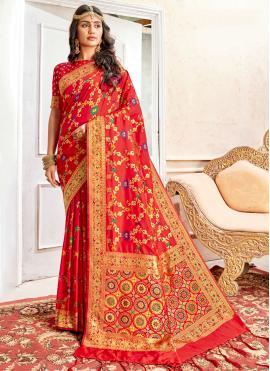Red Color Classic Designer Saree