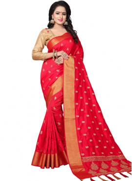 Red Designer Traditional Saree