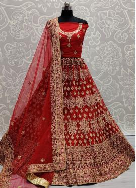 Red Sangeet Lehenga Choli