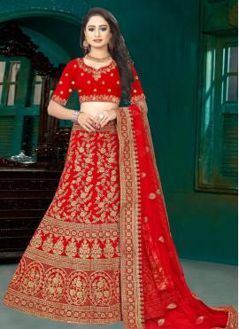 Red Wedding Lehenga Choli