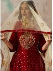 Red Zari Anarkali Salwar Kameez - 1