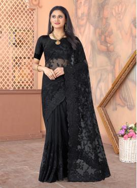 Refreshing Black Sangeet Designer Saree
